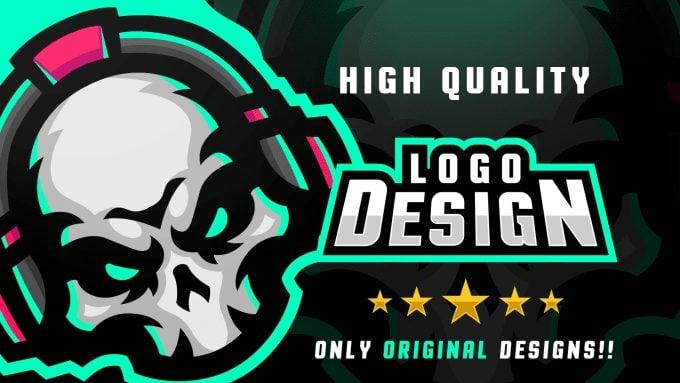 design a original esport, gaming, twitch, mascot logo