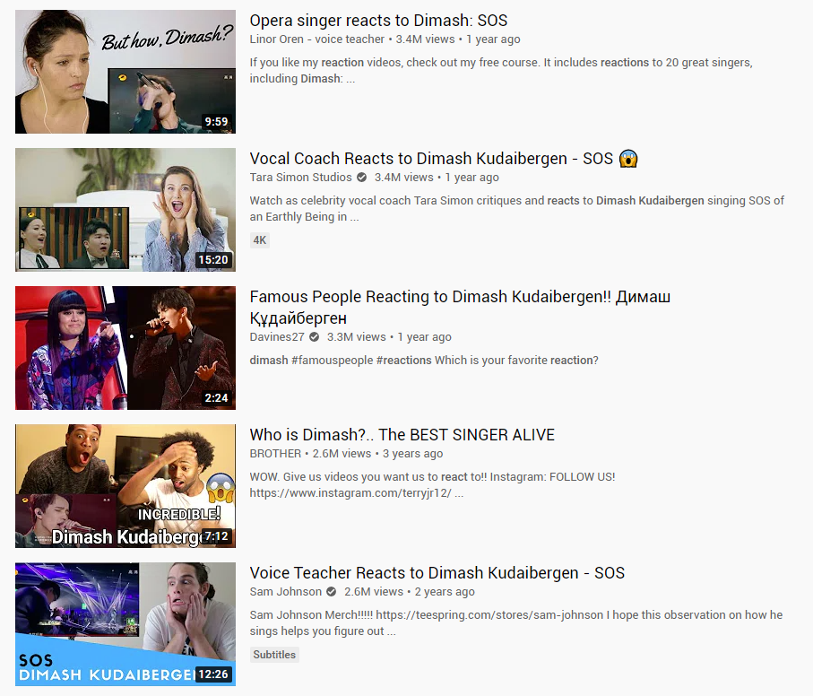 dimash kudaibergen youtube search